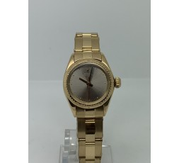 Rolex Oyster Perpetual LADY 26MM FULL 18K GOLD GREY DIAL LIKE NEW