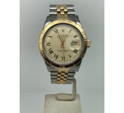 Rolex Datejust Turn-o-graph Steel Gold Champagne Roman Dial Box Papers Perfect Condition
