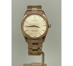 Rolex Oyster Perpetual 34mm 18k Rose Gold Tropical Dial Very Rare Year 1959