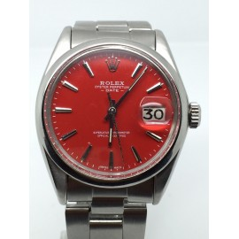 Rolex DATE 34MM AUTOMATIC RARE RED DIAL